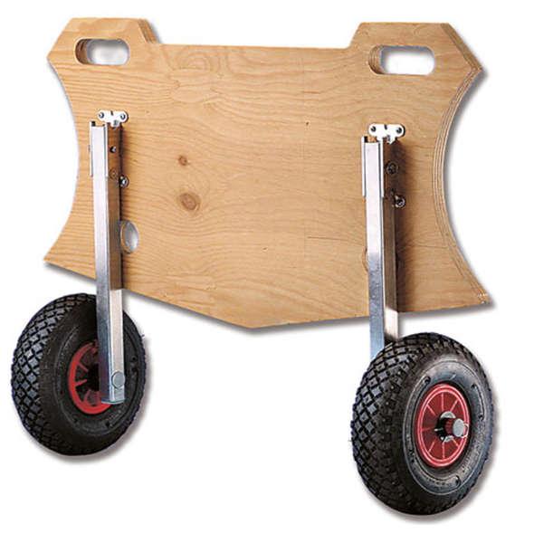 Coppia ruote alaggio ribaltabili Mini per Zodiac