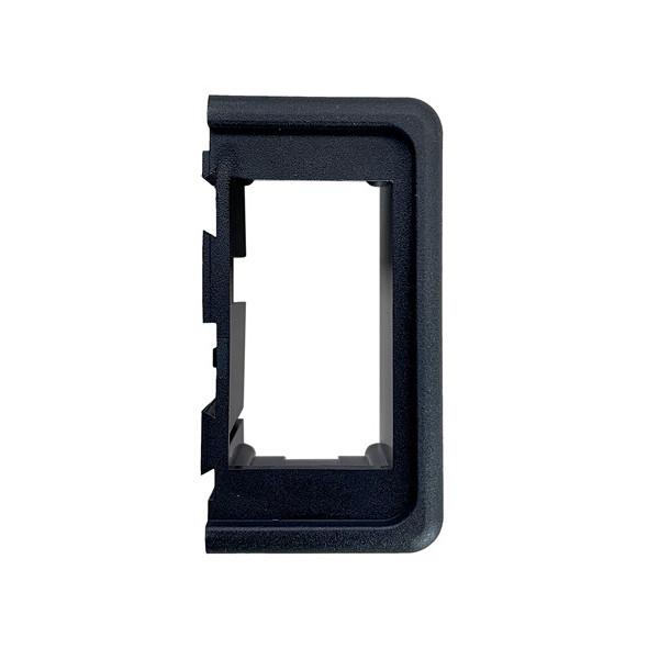 Cornici per interruttori Carling Switch neri - Inserto terminale dx/sx
