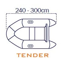 Covy Line Telo copri gommone 240/300 cm