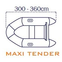 Covy Line Telo copri gommone 300/360 cm