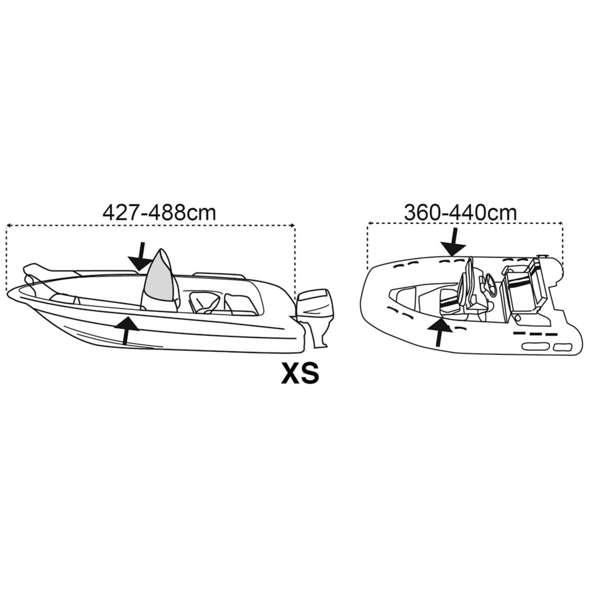 Covy Lux telo copri barca anti-condensa 427/488 cm