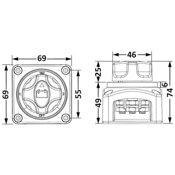 Deviatore Batteria 4 Posizioni