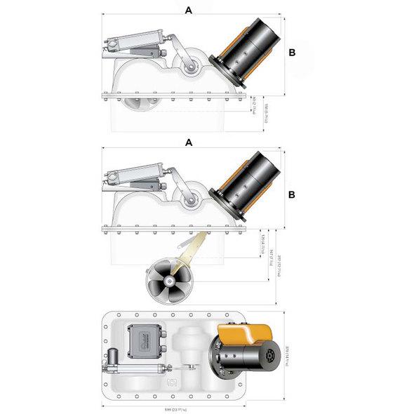 Elica manovra retrattile Quick BTQR185-105DP 12 V