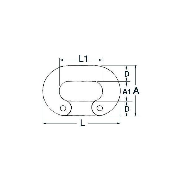 Falsa maglia Inox per catene 6 mm