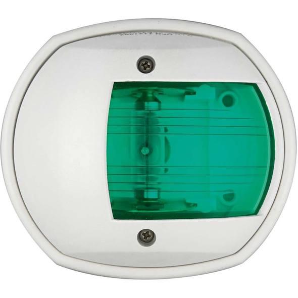 """Fanale di via """"Classic 12"""". Cassa bianca Luce verde 112,5°"""