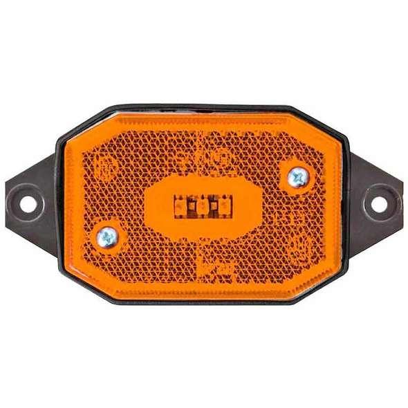Fanali di Posizione a LED per Carrelli ELLEBI - Luce Laterale Arancio 2 attacchi