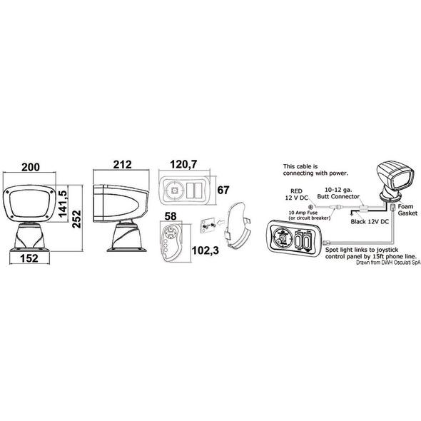 Faro elettrico Classic 35W HID lampadina Xeno - 12 V