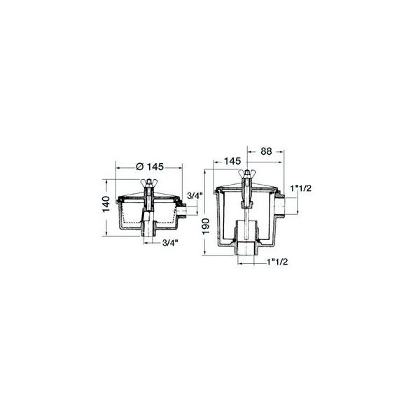 Filtro acqua Utility moplen 3/4