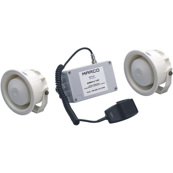 Fischio elettron. con 2 Altop.+ Mic. + Sirena EMHI-2 24V