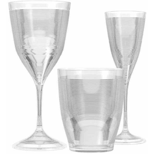 Fresnel Line Bicchiere Party Azzurro