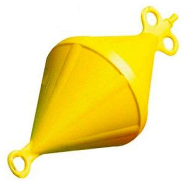 Gavitello biconico in polietilene 6 litri giallo