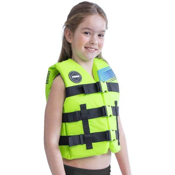 Giubbino Jobe Nylon Vest per bambini Lime Green