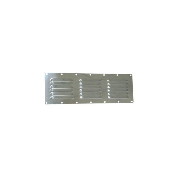 Griglia rettangolare inox con rete antizanzare mm 116 x 340