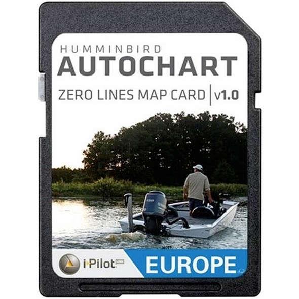 Humminbird AutoChart ZeroLine SD Card Europa