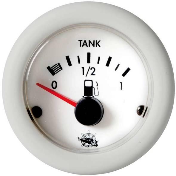 Indicatore Carburante 10-180 ohm 12V. Bianco