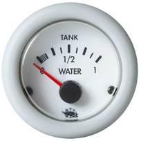 Indicatore Carburante 10-180 ohm 24V. Bianco