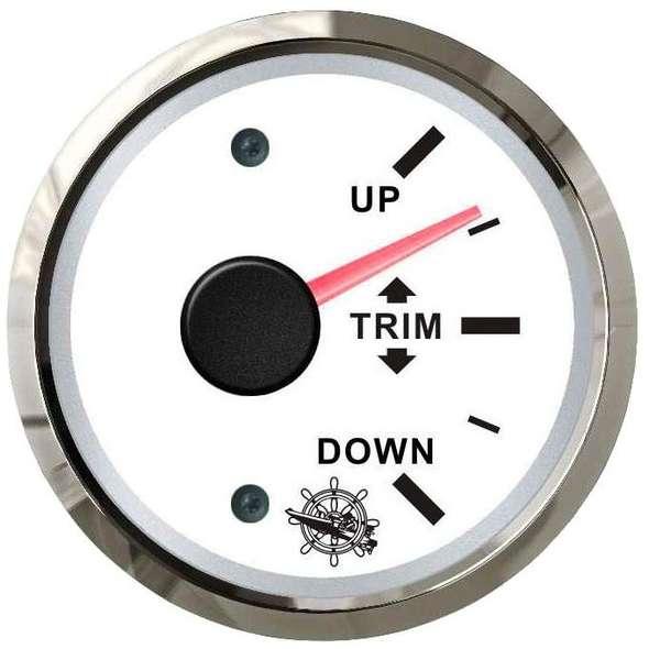 Indicatore Trim universale 0-190 ohms - Bianco + cornice cromo