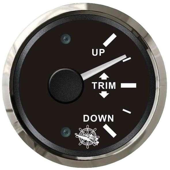 Indicatore Trim universale 0-190 ohms - Nero + cornice cromo