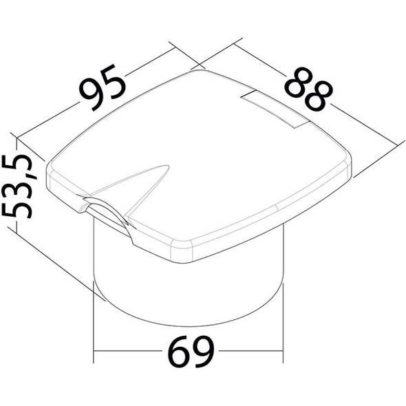 Kit doccia New Edge Boris cromo tubo mt 2,50