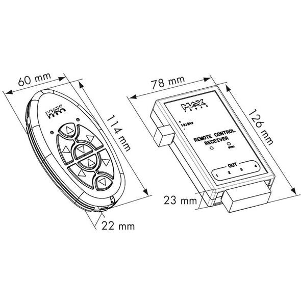 Kit trasmettitore + ricevitore MAX POWER