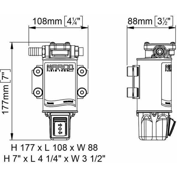 Kit Travaso Olio Marco OCK1-R Reversibile con Interruttore - 12V