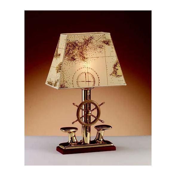 Lampada Bitta + Timone ottone. Grande