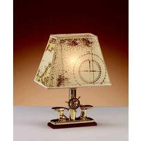 Lampada Bitta + Timone ottone. Piccola