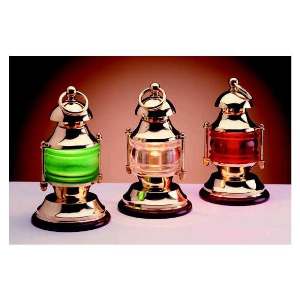 Lampada Fanale ottone. Luce Verde