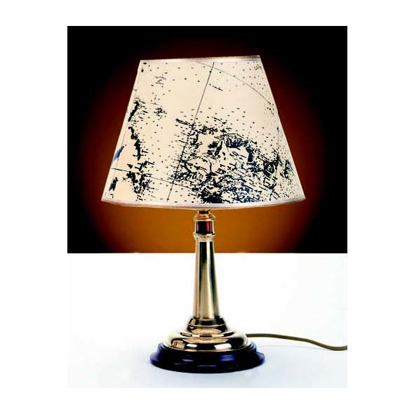 Lampada Faro ottone. Paralume pergamena