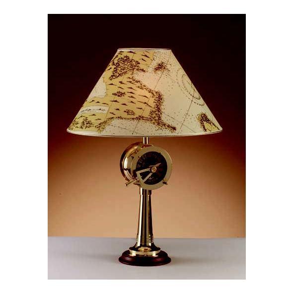 Lampada ottone. Paralume conico pergamena