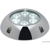 Luce 6 LED subacquea tonda