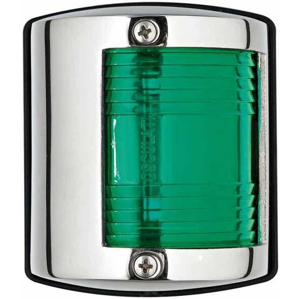 "Luce di via ""Utility 85"" inox laterale verde112.5°"