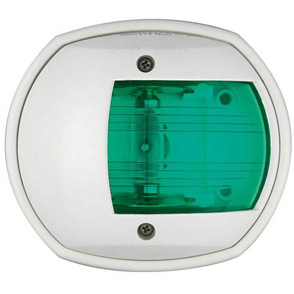 Luce di via Compact 12 laterale verde 112,5 Cassa bianca