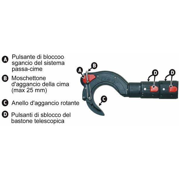 Mezzo Marinaio Passacime Hook & Moor Carbo 320 cm