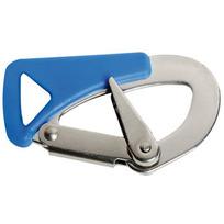 Moschettone inox con blocco per cintura sicurezza mm.105