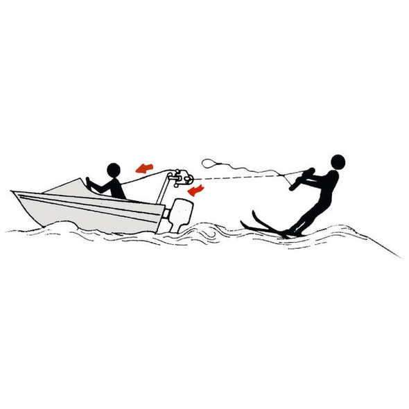 Moschettone sci nautico regolamentare