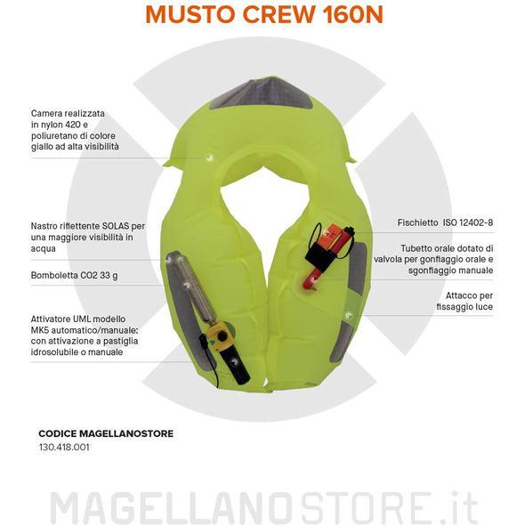Musto Crew Salvagente Autogonfiabile
