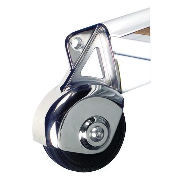 Passerella Pieghevole Alluminio +Iroko mt. 2,10
