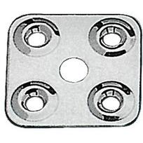 Piastrina fissa cinghie Inox 40x40