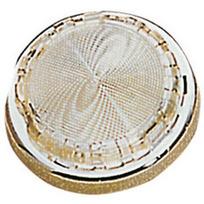 Plafoniera con vetro superpiatta inox mm 105