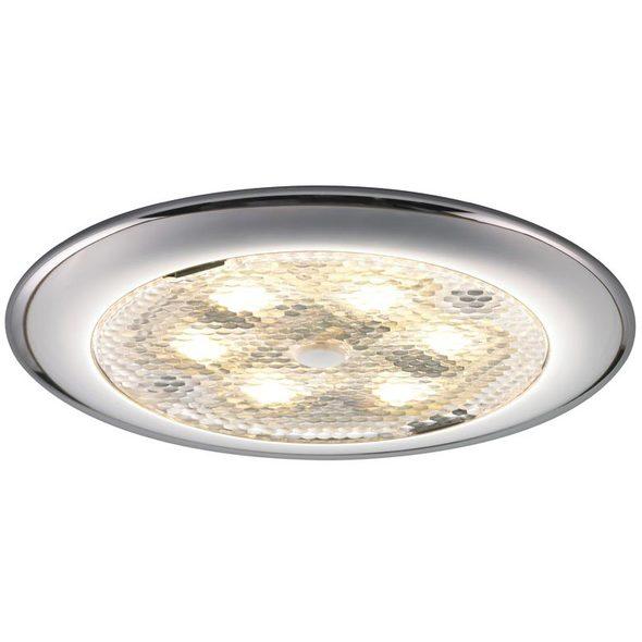 Plafoniera LED Procion nichel con interruttore