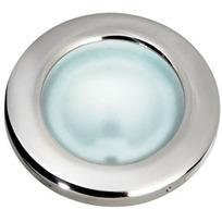 Plafoniera Vega Inox vetro satinato