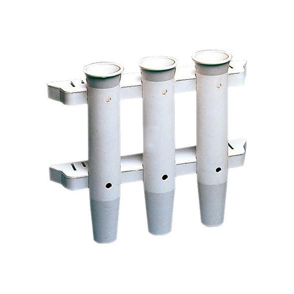 Portacanna Plastica a Parete Multiplo (3 Posti)