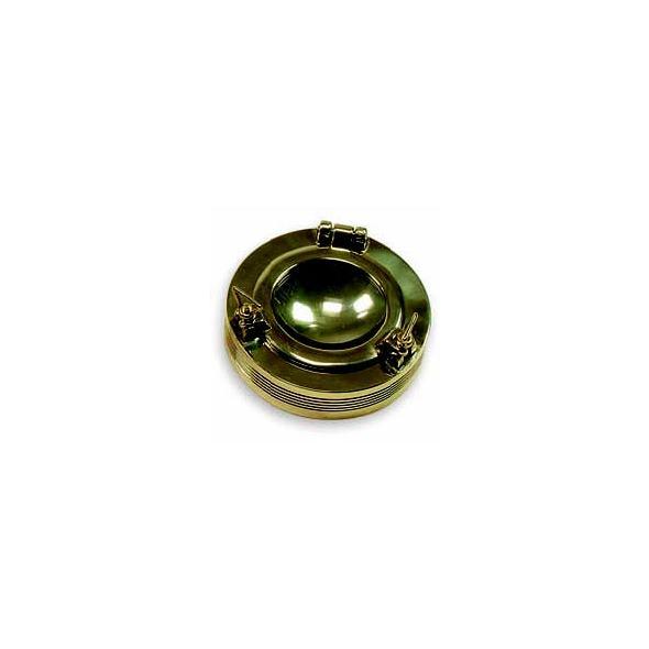 Posacenere Oblò in ottone lucido D.110