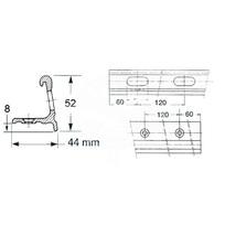 Profilo falchetta alluminio mt.6