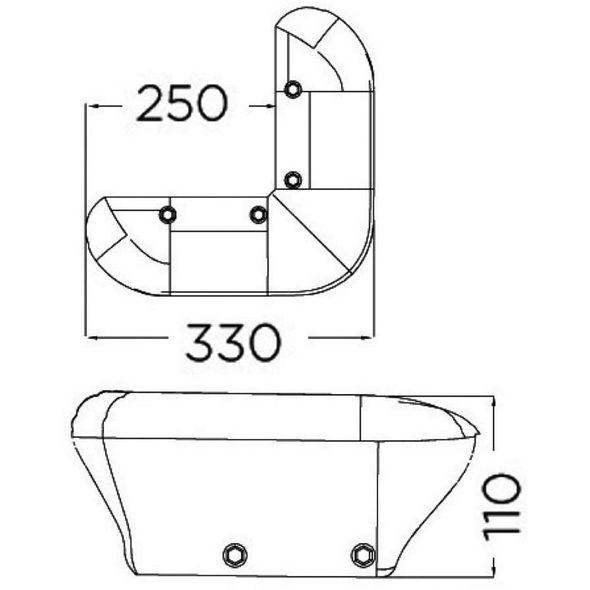 Protezione per Pontile - Tipo Bend Fender - Blu