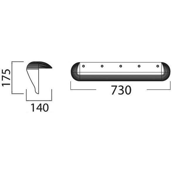 Protezione per Pontile - Tipo Maxfender - Bianco