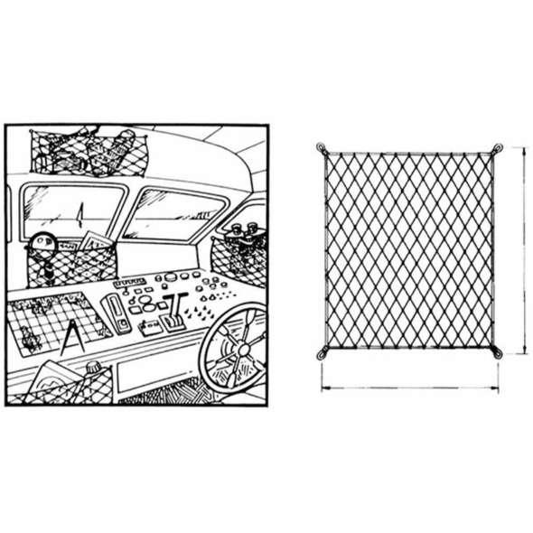 Rete elastica portaoggetti con ganci mm. 300x200