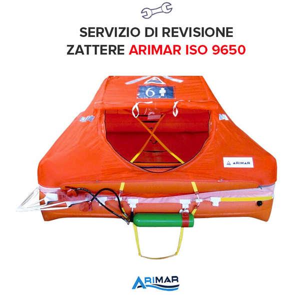 Revisione Zattera Arimar Oltre 12 Miglia ISO 9650 - 8P