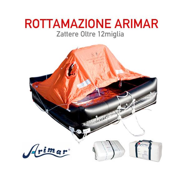 Rottamazione Zattera Arimar oltre 12 Miglia - 10 p. - Container